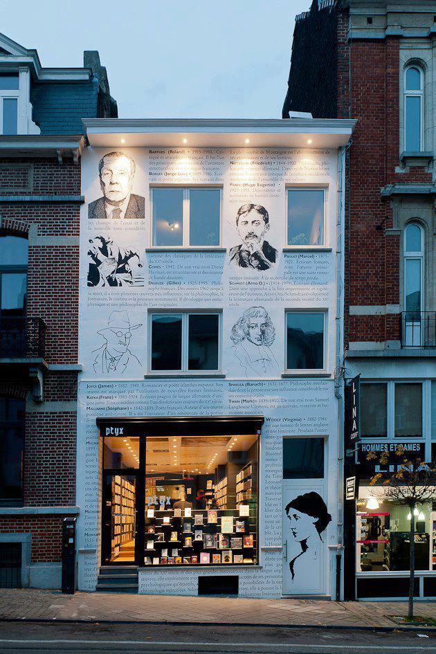Librería calle Lesbroussart  Ixelles Bruselas